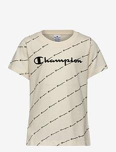 Crewneck T-Shirt - kurzärmelige - papyrus al (ofw)