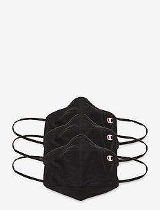 Facemasks 3-pack - gezicht maskers - black