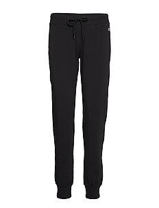 Rib Cuff Pants - pants - black beauty