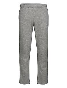 Straight Hem Pants - pants - gray melange light