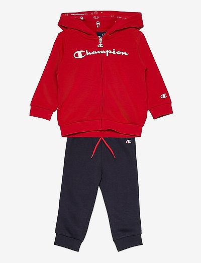 Hooded Full Zip Suit - dresy & zestaw 2 szt - haute red