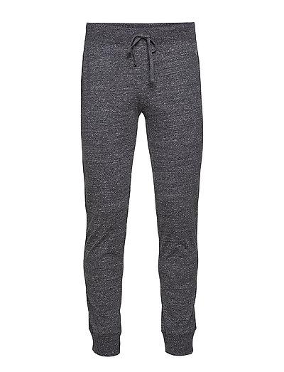 Rib Cuff Pants - NEW CHARCOAL GREY MELANGE DARK