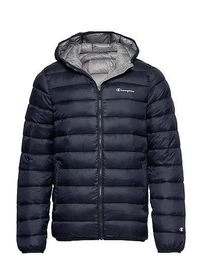 CHAMPION Hooded Jacket Gefütterte Jacke Blau CHAMPION