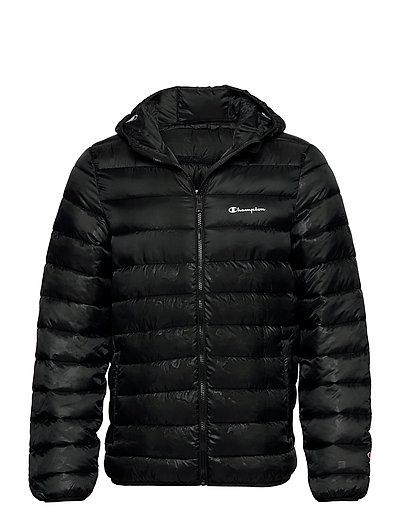 Hooded Jacket Gefütterte Jacke Schwarz CHAMPION