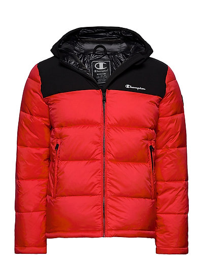 Hooded Jacket Gefütterte Jacke Rot CHAMPION