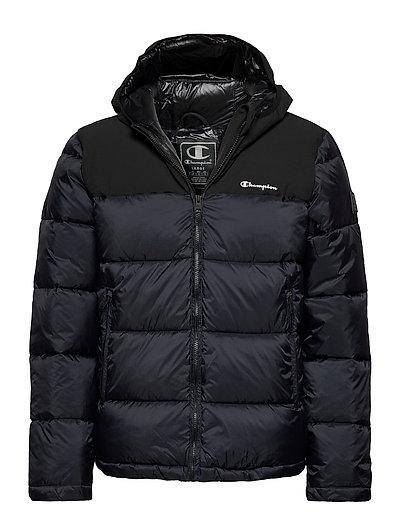 Hooded Jacket Gefütterte Jacke Blau CHAMPION