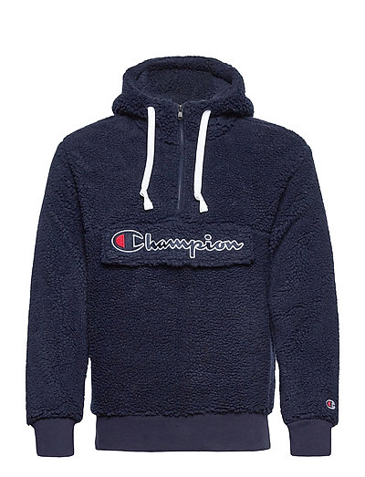Hooded Half Zip Top Sweat-shirts & Hoodies Fleeces & Midlayers Blau CHAMPION | CHAMPION SALE
