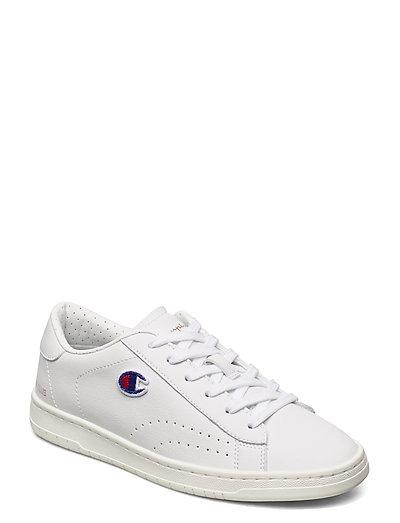Low Cut Shoe Court Club Patch Niedrige Sneaker Weiß CHAMPION