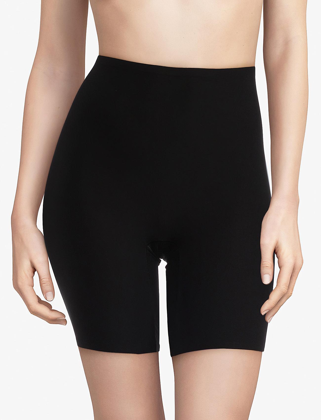 CHANTELLE - Soft Stretch High Waist Mid-Thigh Short - bottoms - black - 0