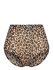 SOFT STRETCH HIGH WAIST BRIEF - LEOPARD PRINT