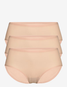 Soft Stretch Hipster 3-Pack - hipster & boyshorts - nude