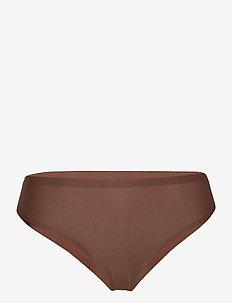 Soft Stretch Thong - string - walnut