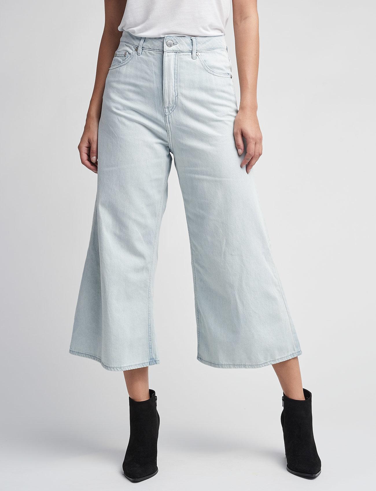 Cheap Monday - Abstract trousers - broeken met wijde pijpen - pale blue - 0