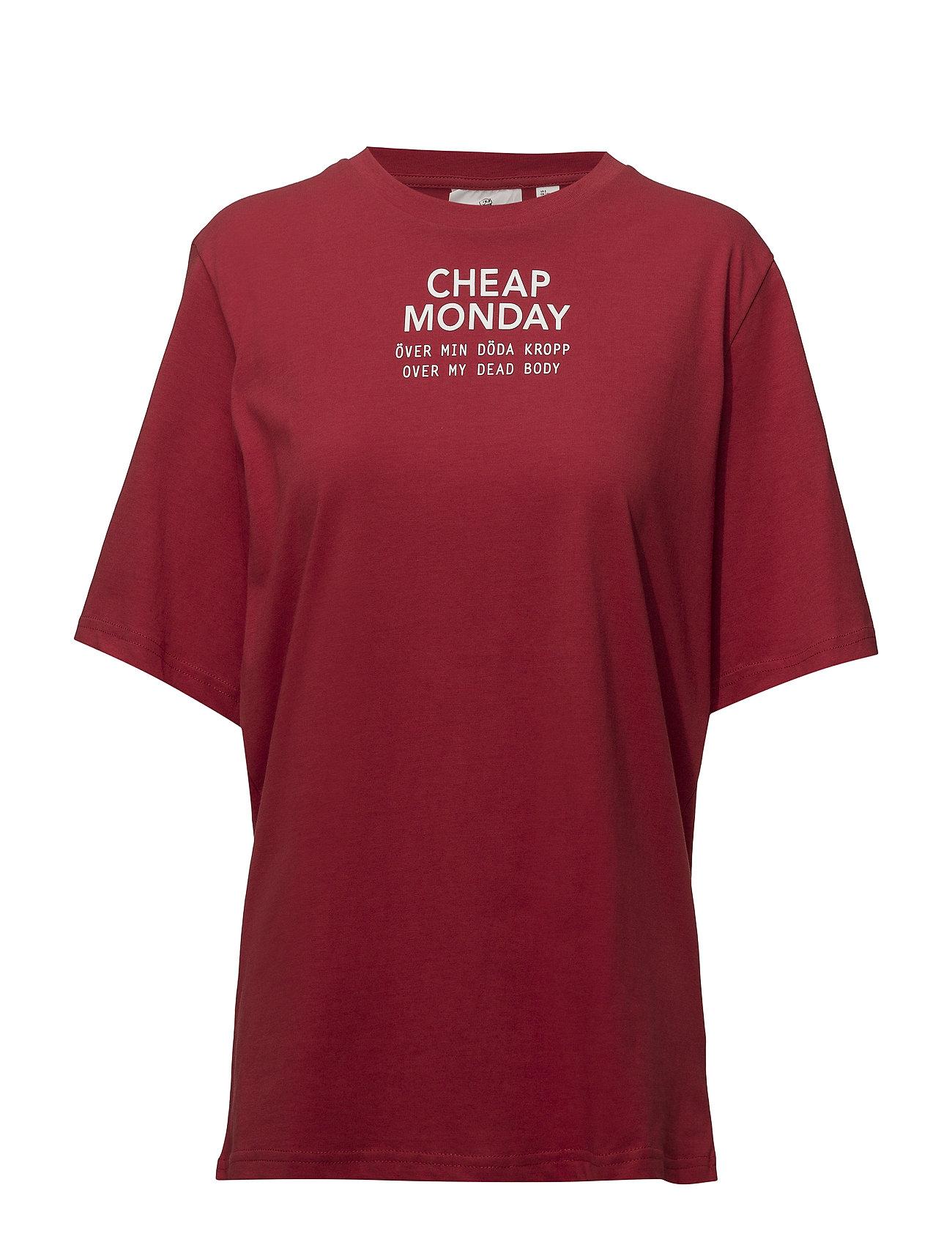 Cheap Monday Perfect tee Chp mnd sender - DK RED