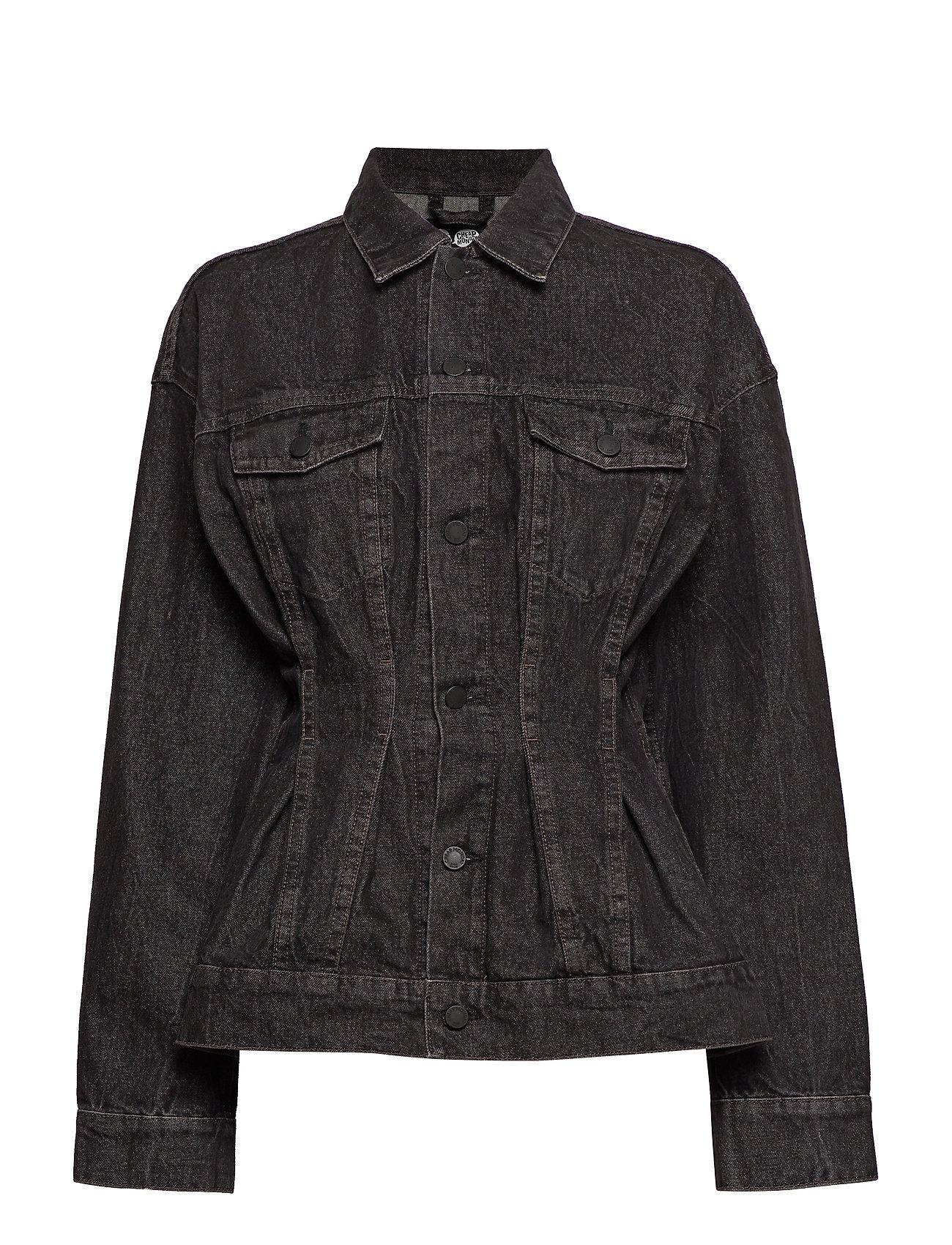 Cheap Monday Jinx Jacket Black Crinkle - BLACK