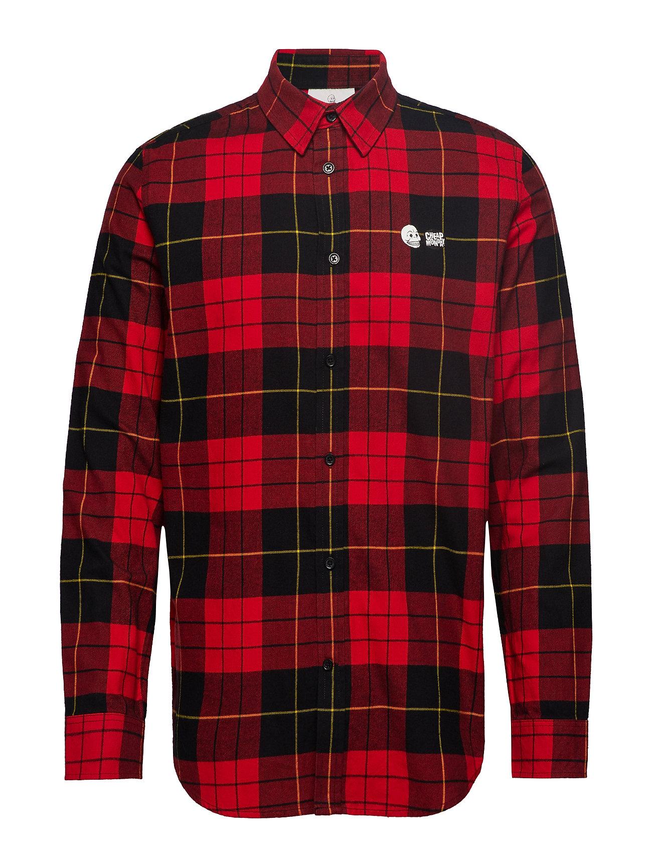 Cheap Monday Fit shirt Red tartan
