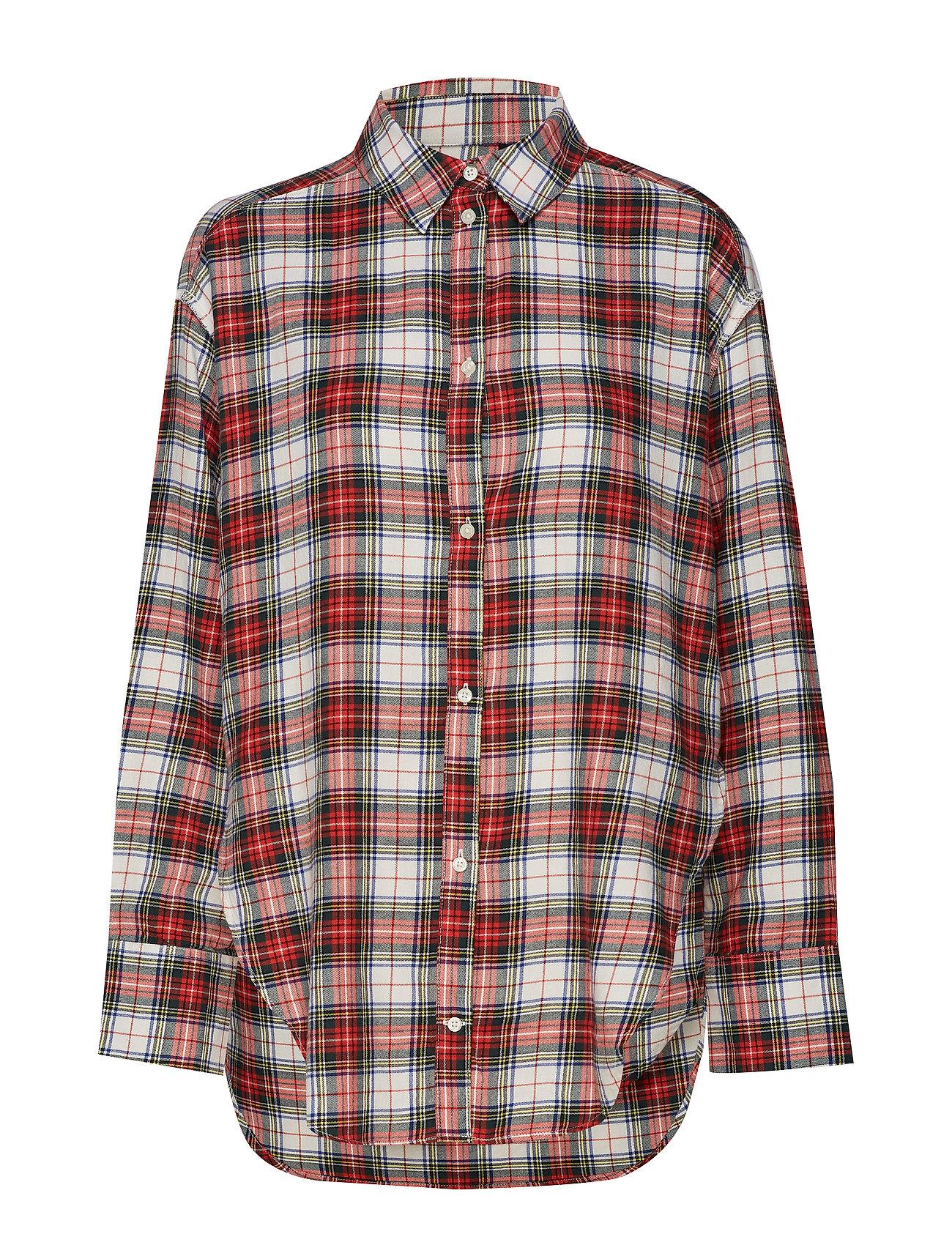 Cheap Monday Obscure shirt tartan - PUNK RED