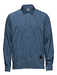 Shell Nylon Shirt - BLUE GREENISH DARK