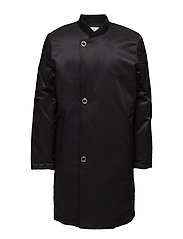 Tucked coat - BLACK