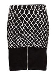Fence skirt Print - BLACK