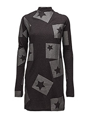 Strict dress Cut Star - DARK GREY MELANGE