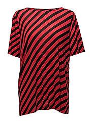 Avant top Slash stripe - RED/BLACK