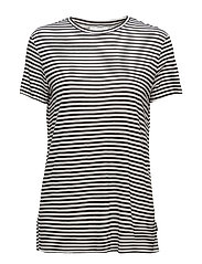 Wager top Small stripe - BLACK/WHITE