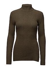Avarice knit - DARK GREEN/MUD GREEN
