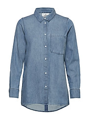 Behave denim shirt - LT BLUE