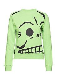 Win sweat Huge skull - NEON GREEN