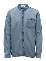 Give denim shirt - BLUE