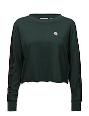 Bed LS tee Brush strokes - PINE GREEN