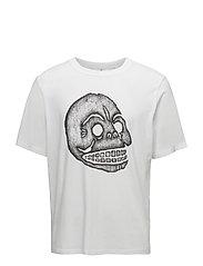 Boxer tee Pencil skull - WHITE