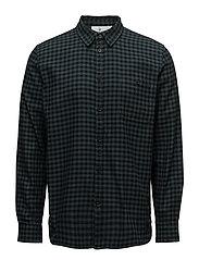 Give shirt Check - PINE GREEN/BLACK