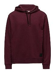 Pullover hood - DARKEST RED