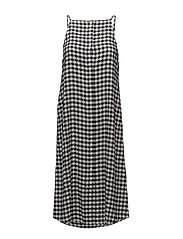 Track dress Gingham check - BLACK