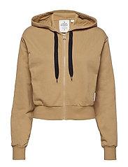 Zip hood - BEIGE