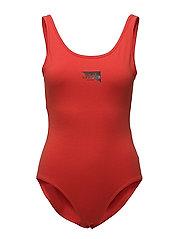 Dip bodysuit Yang logo - Coral
