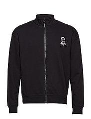 Mad cardigan Crew logo repeat - BLACK