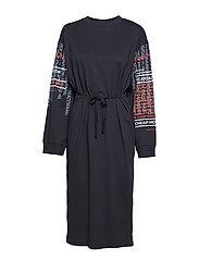 Bind dress Slogan sleeves - DK GREY