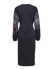 Bind dress Slogan sleeves