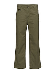Solid trousers Bleached olive - BLEACHED OLIVE