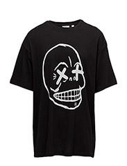Squad tee Faint skull - BLACK
