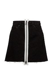 Zip A skirt - BLACK
