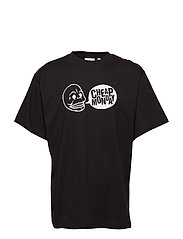 Uni tee Speech logo - BLACK