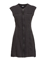 Occult dress crinkle black - BLACK
