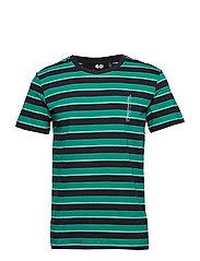 Standard stripe tee - GRASSGREEN