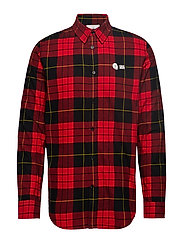 Fit shirt Red tartan - SCARLETRED