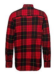 Fit shirt Red tartan