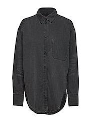 Obscure shirt crinkle black - BLACK